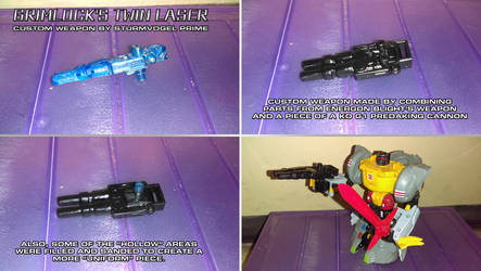 Grimlock's Twin Laser by SturmvogelPrime