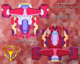 Xenoraid x Exelica - Musashi FAI and IMI Types by SturmvogelPrime