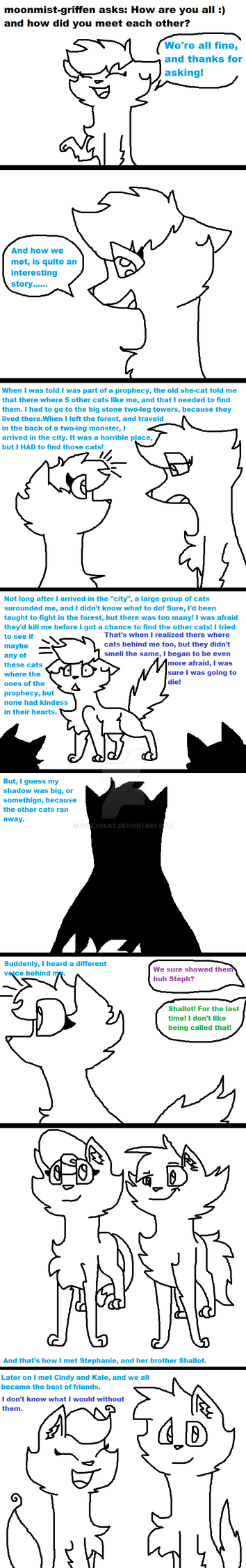 Ask Eve Q#1: How we met by EvelynCat