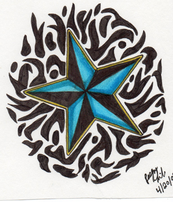 stars tattoo design. Nautical Star Tattoo Design