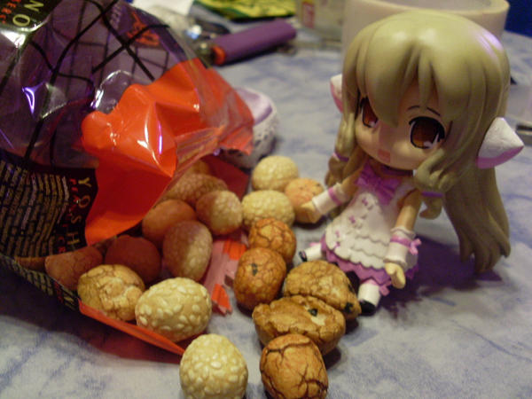 We love Japanese Nut Snacks by Mako-chan89