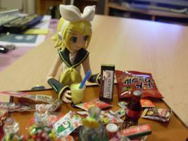 Rin wants chocolate by Mako-chan89