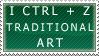 I Ctrl + Z Traditional Art by SpiffyDisco