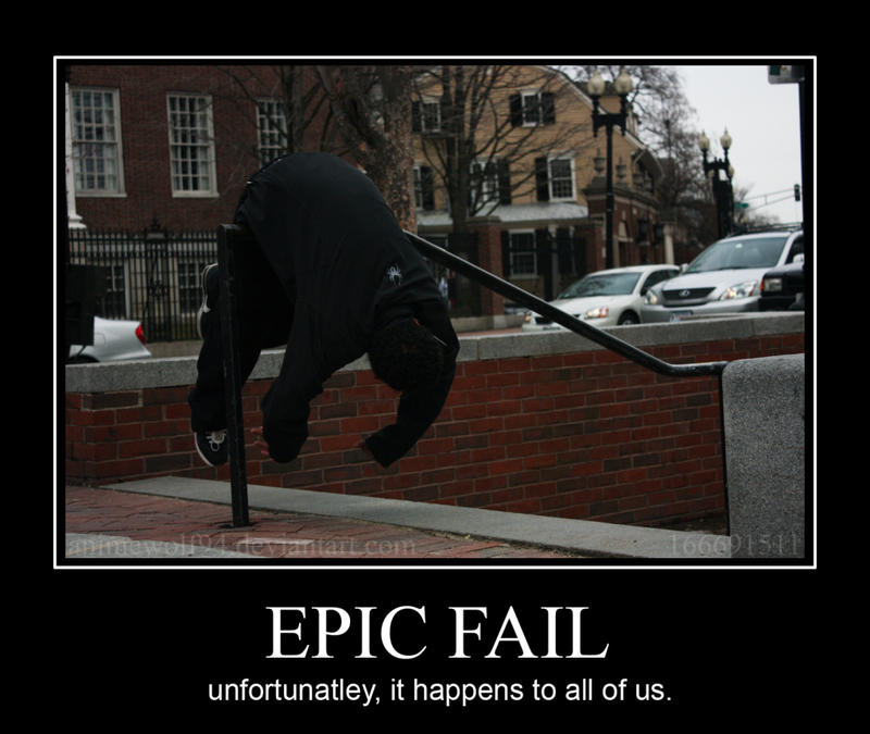 Epic Fail by AnimeWolf94
