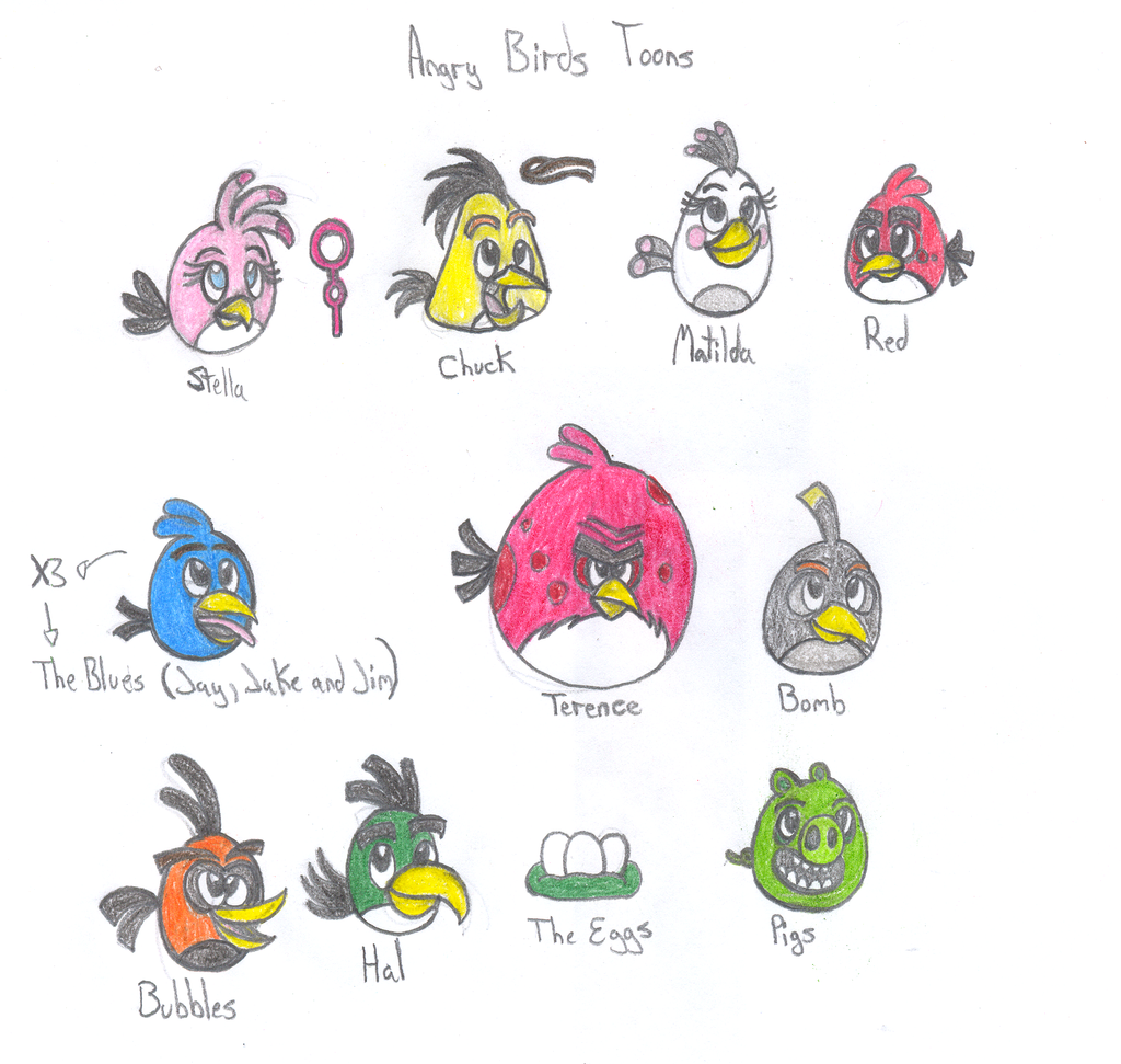 Angry Birds Toons Characters by Soniclifetime on DeviantArt