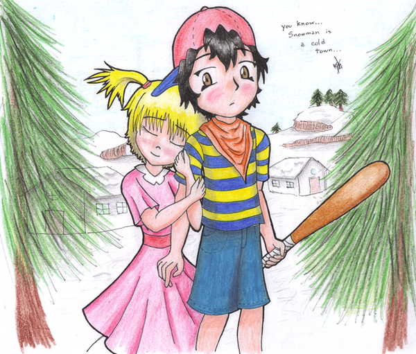 Mother/Earthbound - Page 2 Snowman__s_a_cold_town_by_Manolink