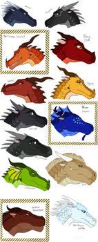 Dragon designs p.4 by gabbycat17