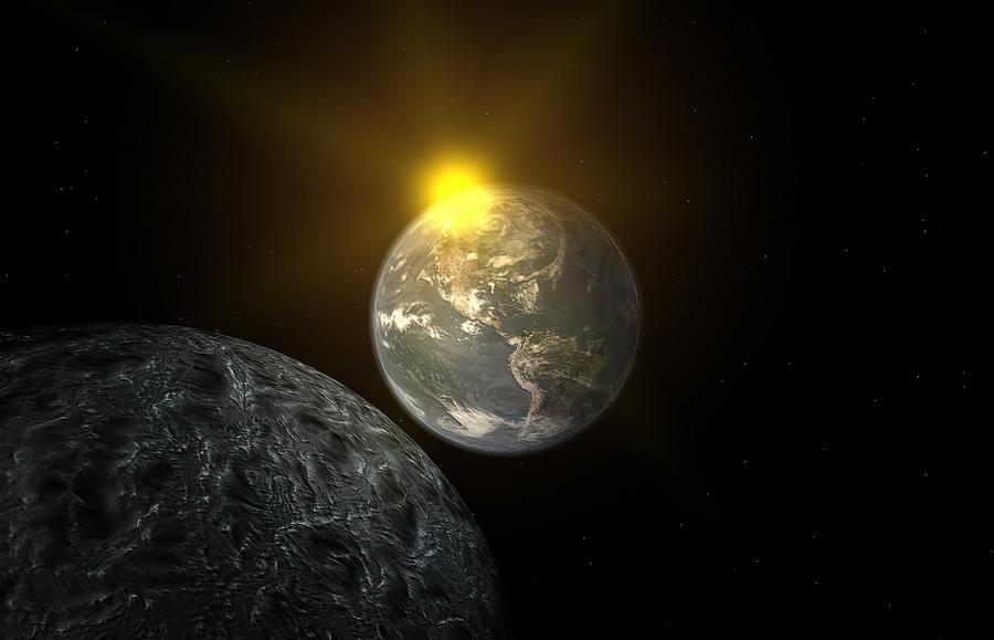 Earth-Moon by ShippD