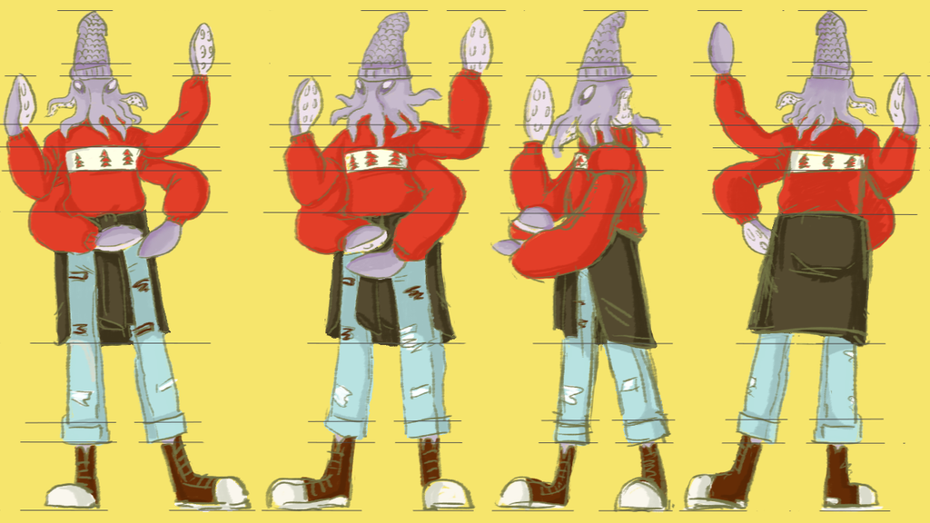 Squid-drummer Character Sheet by laoan