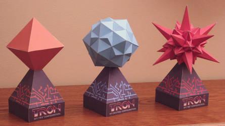 Tron Bit Papercraft by Tektonten