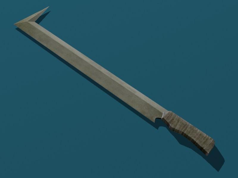 Uruk-hai Sword Papercraft by Tektonten