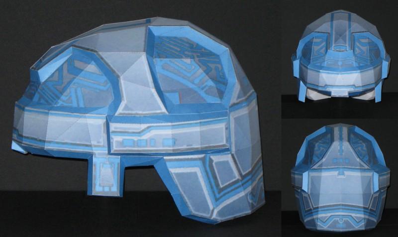 1:1 Papercraft Tron Helmet by Tektonten