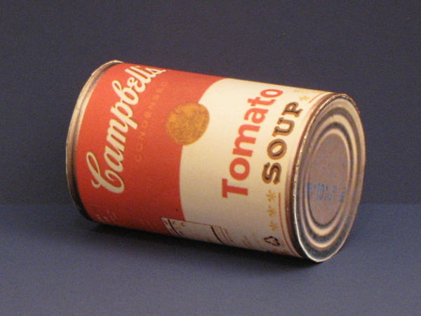 Tomato Soup Can Papercraft by Tektonten