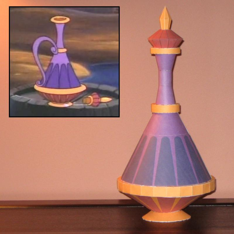 Disney Genie Bottle Papercraft by Tektonten