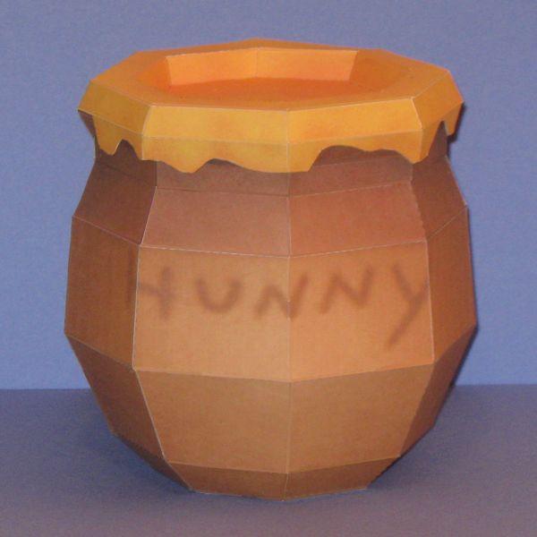 Pooh's Hunny Pot Papercraft by Tektonten