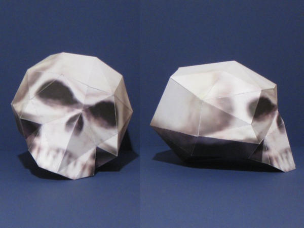 LoL Skull Papercraft by Tektonten