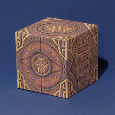 Skyrim Dwemer Puzzle Cube Papercraft by Tektonten