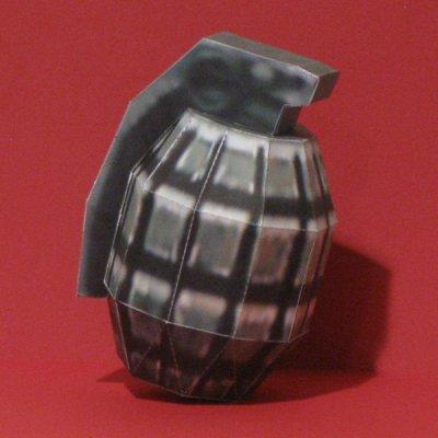 Half-Life Frag Grenade Papercraft by Tektonten