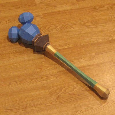 Kingdom Hearts Dream Rod Papercraft by Tektonten