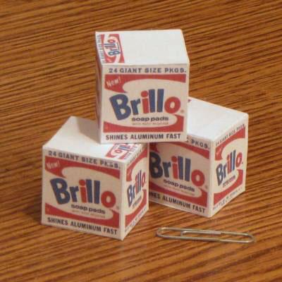 Mini Warhol Brillo Box Paper Toys by Tektonten