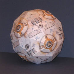 Star Wars Training Remote Papercraft by Tektonten