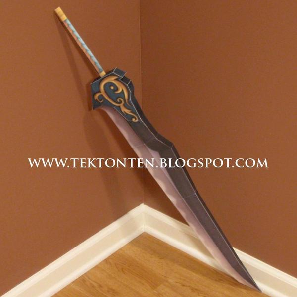 KH2 Auron Sword Papercraft by Tektonten