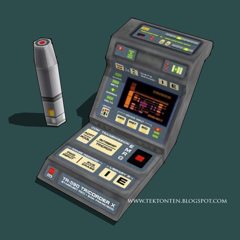 Star Trek Medical Tricorder Papercraft Revamp by Tektonten