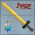 Adventure Time Golden Sword of Battle Papercraft