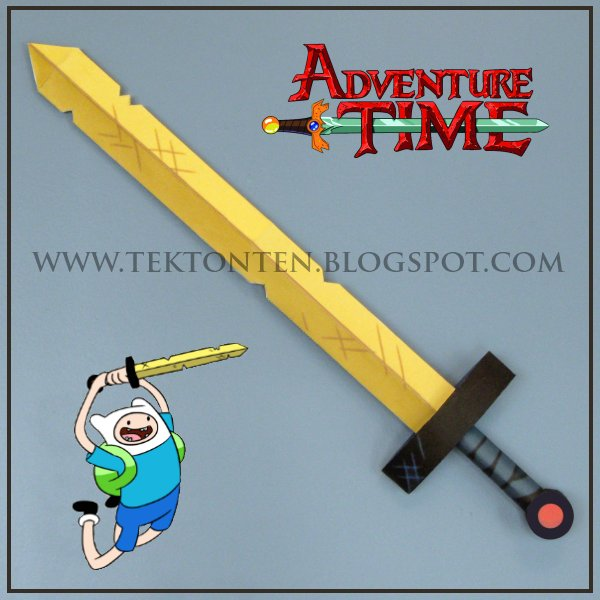 Adventure Time Golden Sword of Battle Papercraft by Tektonten