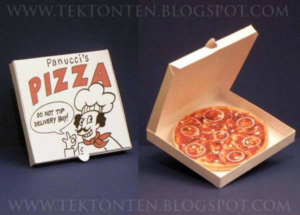Futurama Pizza Paper Toy by Tektonten