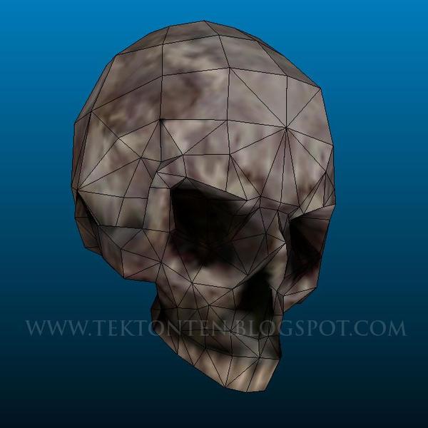 AvP Skull Papercraft by Tektonten