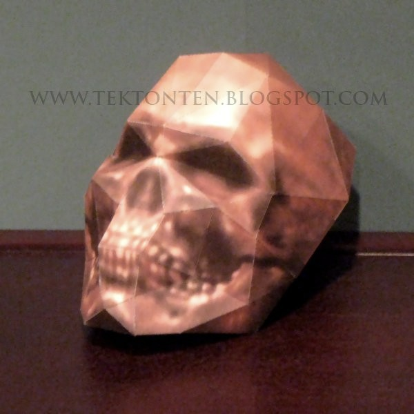 Papercraft Wolfenstein Skull by Tektonten