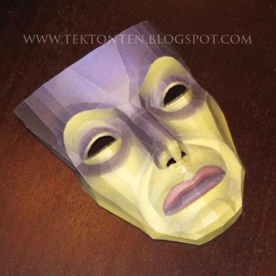 Snow White Magic Mirror Mask Papercraft by Tektonten