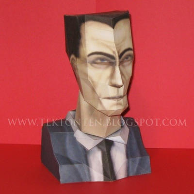Papercraft Half-Life1 G-man Mini Bust by Tektonten