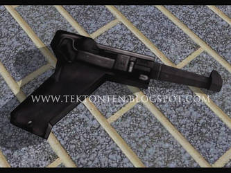 Wolfenstein Luger Pistol Papercraft by Tektonten