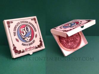 Grateful Dead Pizza Paper Toy by Tektonten