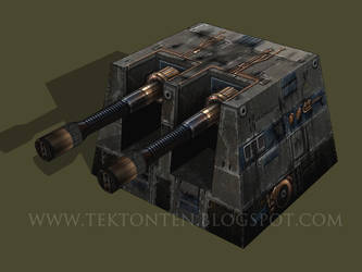 Star Wars Laser Cannon Papercraft by Tektonten