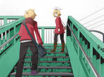 walking Rin Len