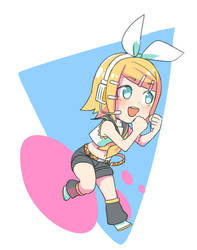 chibi Rin-chan by grimay