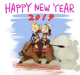 happy new year 2019 by grimay