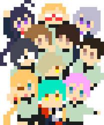 Toushirou pixels by grimay
