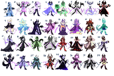 Mini Adopts- Horned Creatures v2 -OPEN-(10/32) by Pypixy