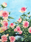 Blue sky roses