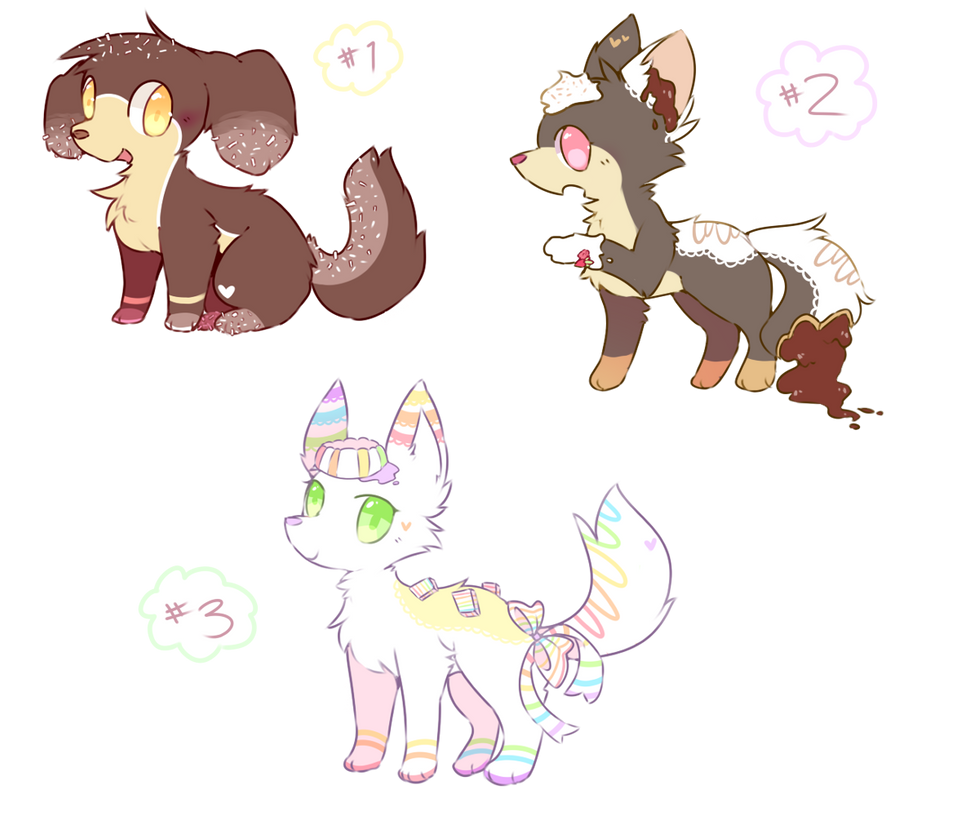 Dessert Adopts -auction, closedddd!- by Milkii-Ways