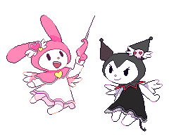 My Melody And Kuromi by Milkii-Ways