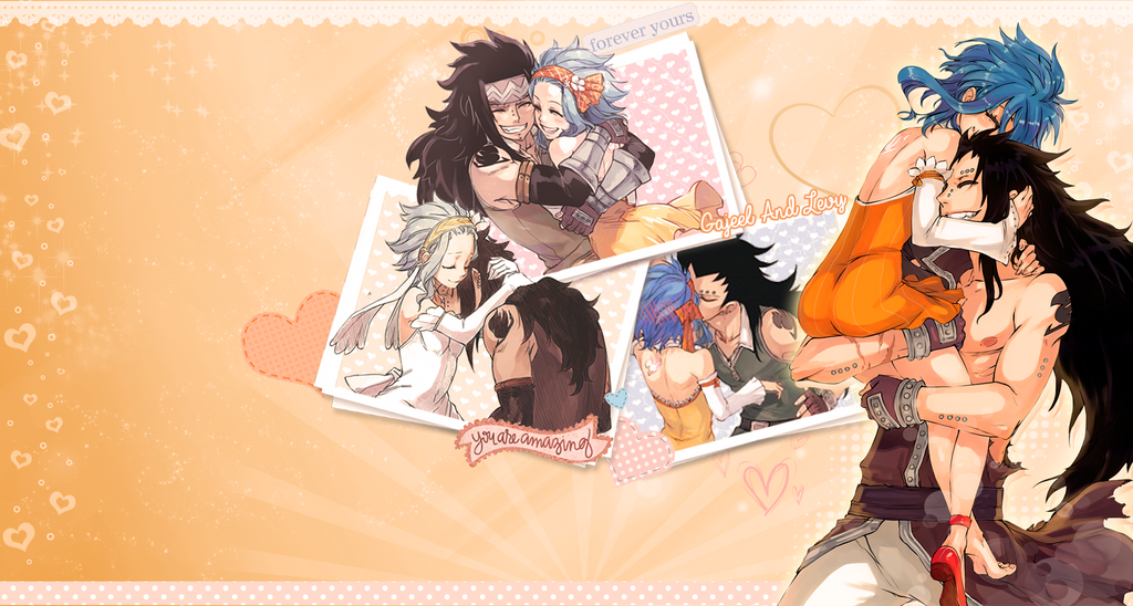 Levy and Gajeel Wallpaper by KimmyPeaches