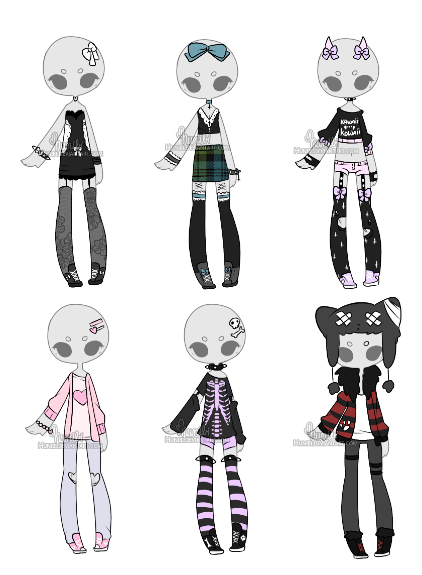 Outfit Adoptable Mix 7 [CLOSED] by Hunibi on DeviantArt