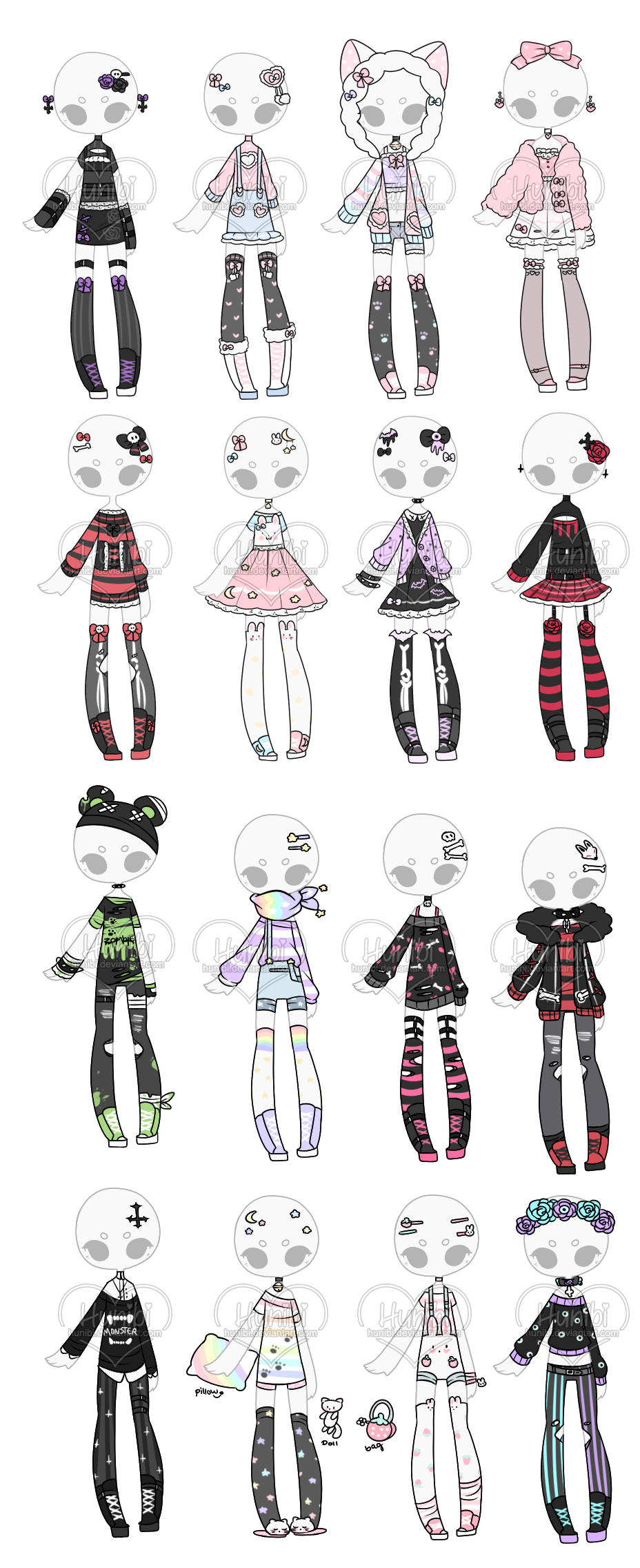 Outfit Adoptable Mix 43 Closed 0 16 By Hunibi On Deviantart