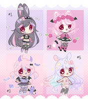 SALE+Crayon chibi adopts [OPEN] (2/4)+ by Hunibi