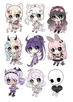 +Mixed chibi adopts [OPEN] (5/9)+ by Hunibi